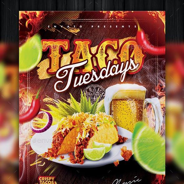 Taco Tuesdays Flyer Template