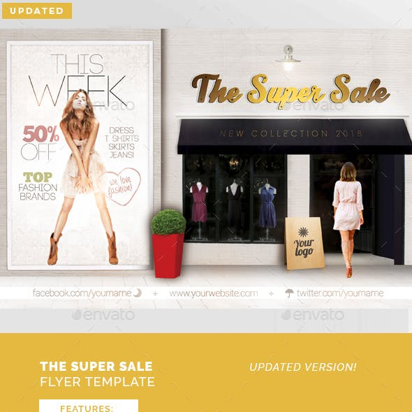 The Super Sale Flyer Template