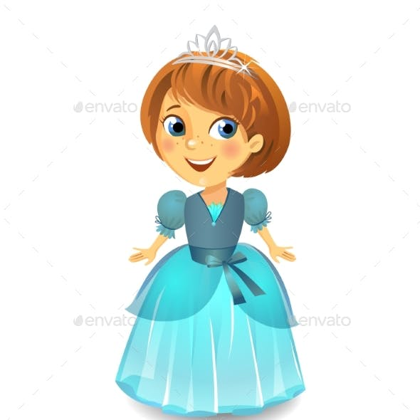 Princess in a Blue Dress