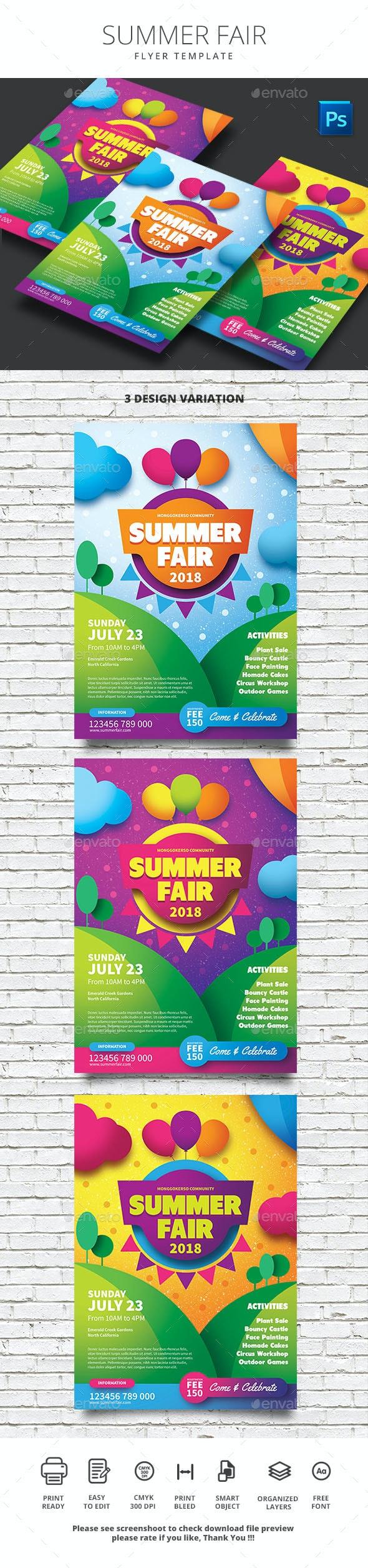 Summer Fair - Events Flyers