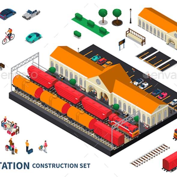 Railway Station Construction Set