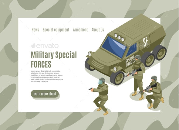 Military Special Forces Web Page - People Characters