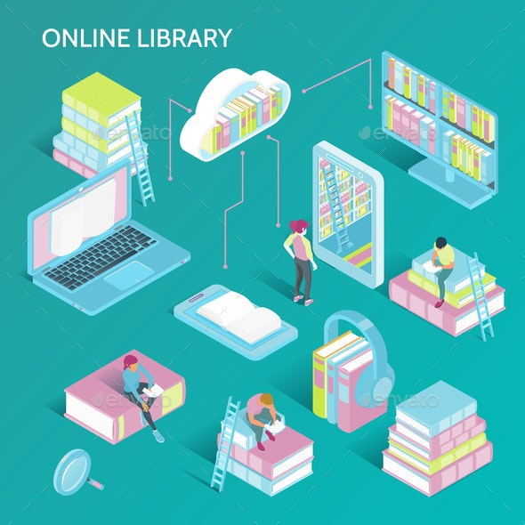 Online Library Isometric Set - Computers Technology