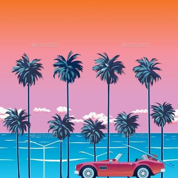 Palm Trees Beach - Landscapes Nature