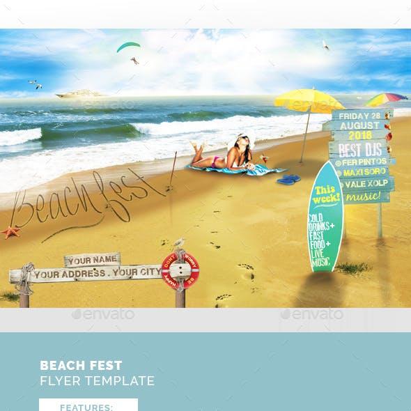 Beach Fest Flyer Template