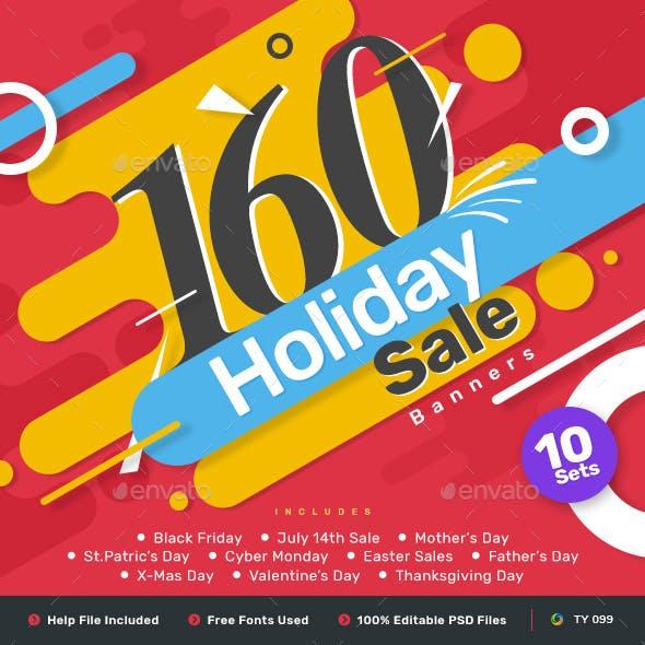 Holiday Sale Jumbo Bundle - 10 sets - 160 Banners - UPDATED!