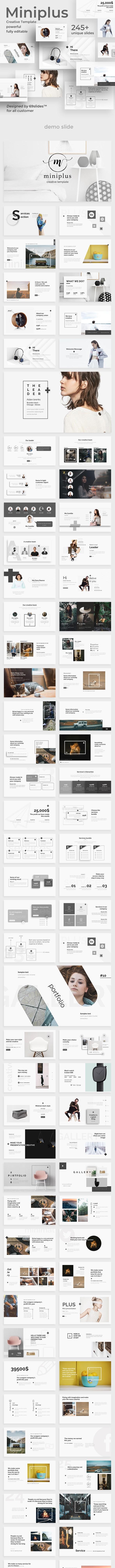 Miniplus Creative Powerpoint Template - Creative PowerPoint Templates
