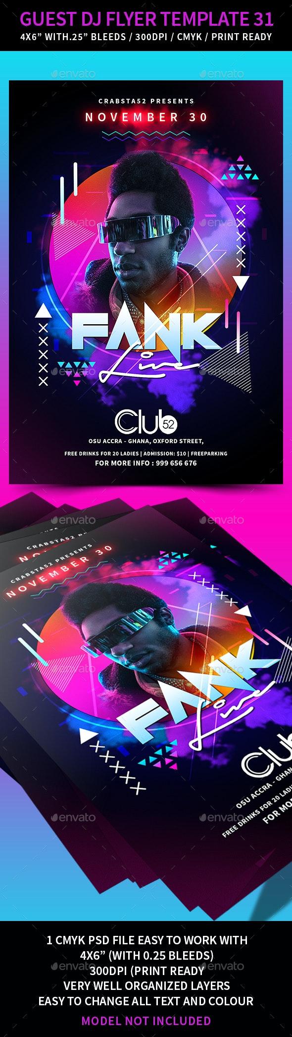 Guest DJ Flyer Template 31 - Flyers Print Templates