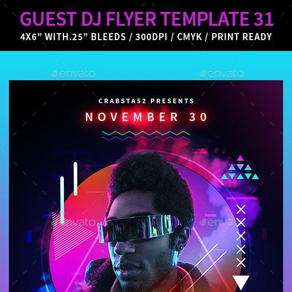 Guest DJ Flyer Template 31