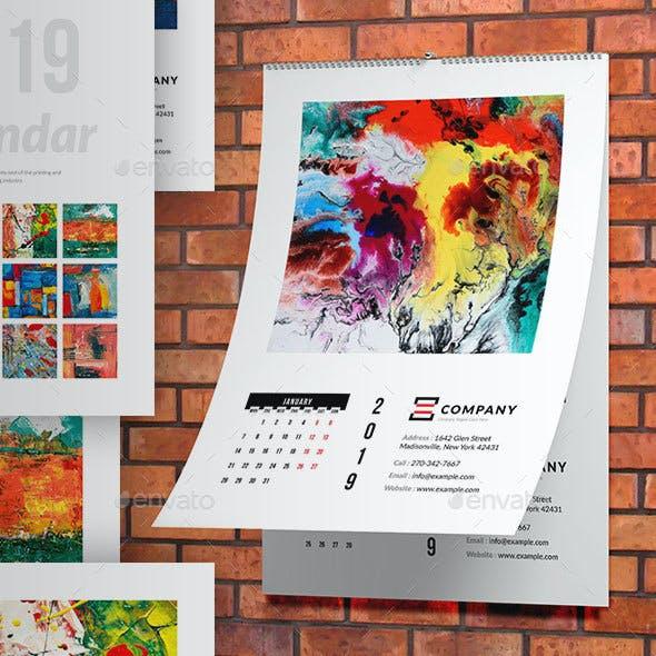 Wall Tabloid Calendar 2019
