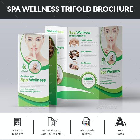 Spa Wellness Trifold Brochure