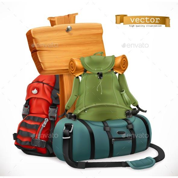 Tourist Backpack and Bag