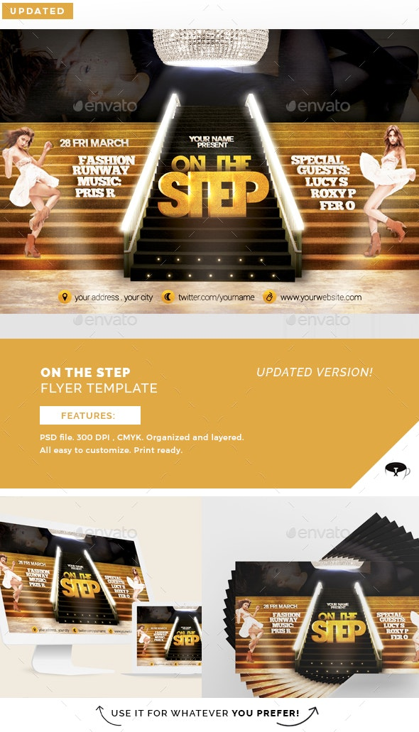 On The Step Flyer Template - Print Templates