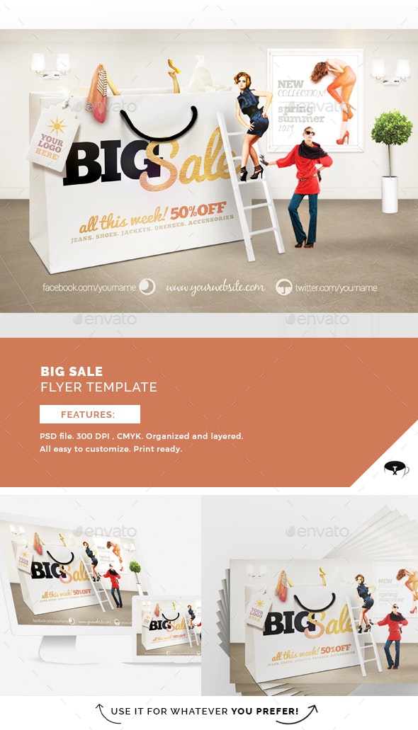 Big Sale Flyer Template - Flyers Print Templates