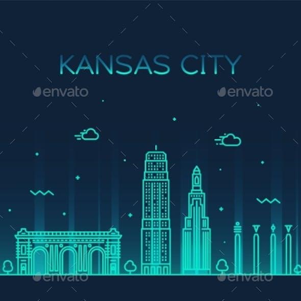Kansas City Skyline Missouri