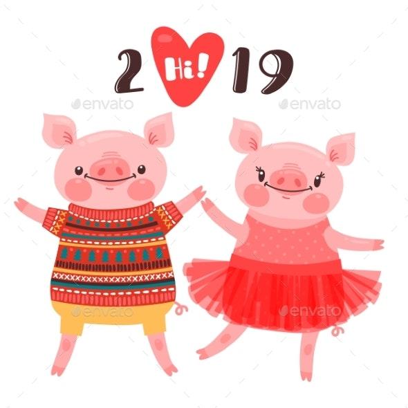 Happy 2019 New Year Card - New Year Seasons/Holidays
