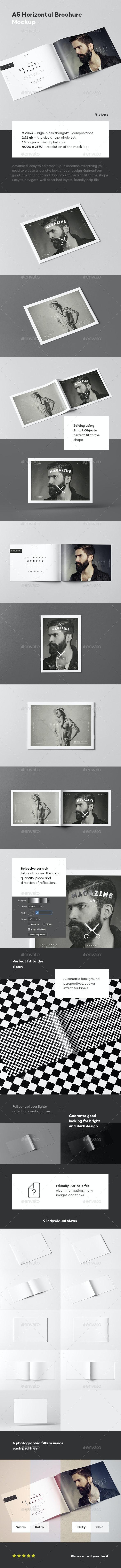 A5 Horiozontal Brochure Mock-up - Brochures Print
