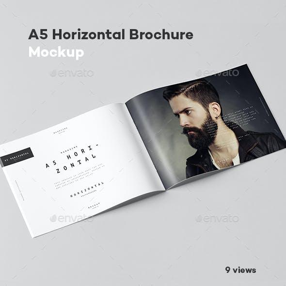 A5 Horiozontal Brochure Mock-up