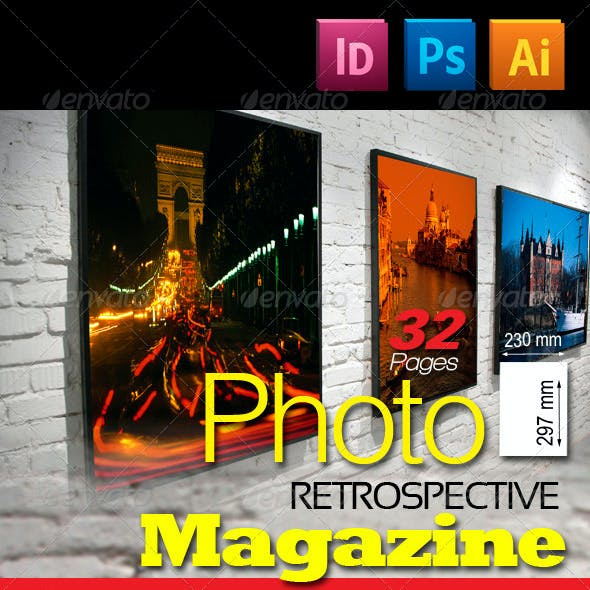 32 Pages Photo Retrospective Magazine