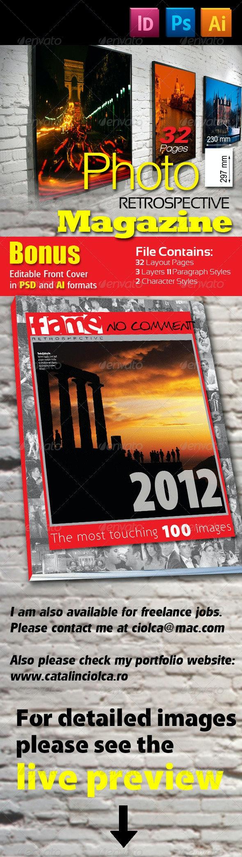 32 Pages Photo Retrospective Magazine - Magazines Print Templates