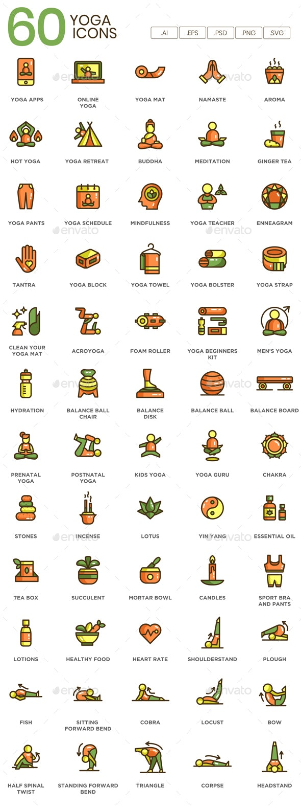 Yoga Icons - Miscellaneous Icons