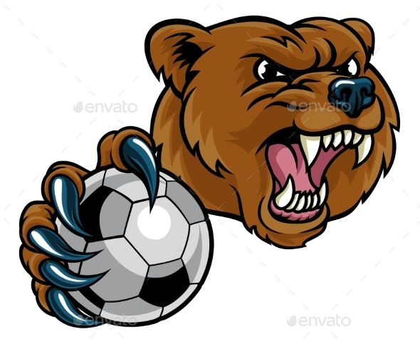 Bear Holding Soccer Ball - Sports/Activity Conceptual