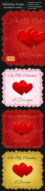 Decorative Valentine Frame Vol.1 - Web Elements