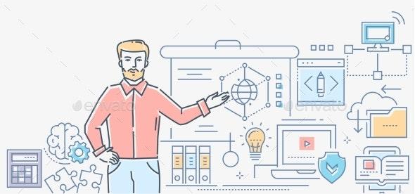 Informatics Lesson - Colorful Line Design Style - Miscellaneous Conceptual