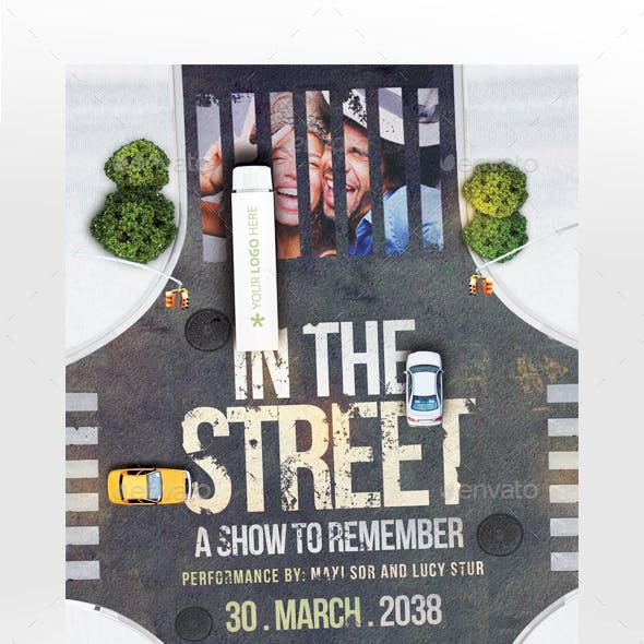 In The Street Flyer Template