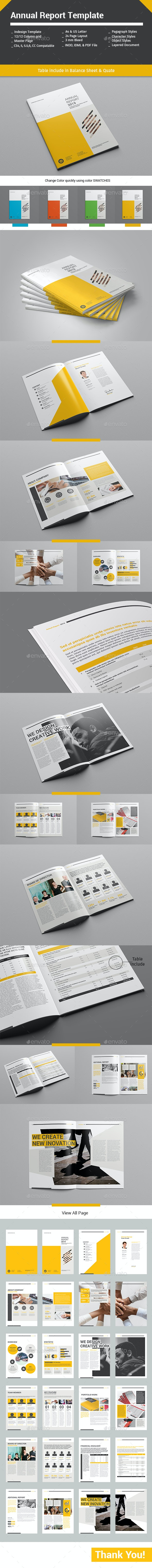 Annual Report Template 24 Pages - Informational Brochures