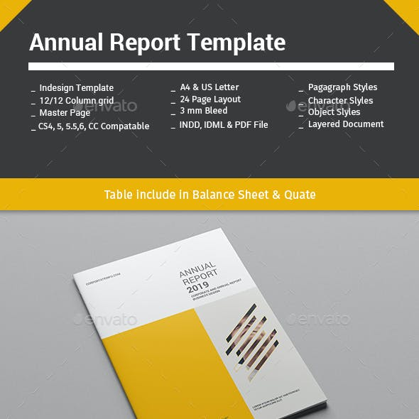 Annual Report Template 24 Pages
