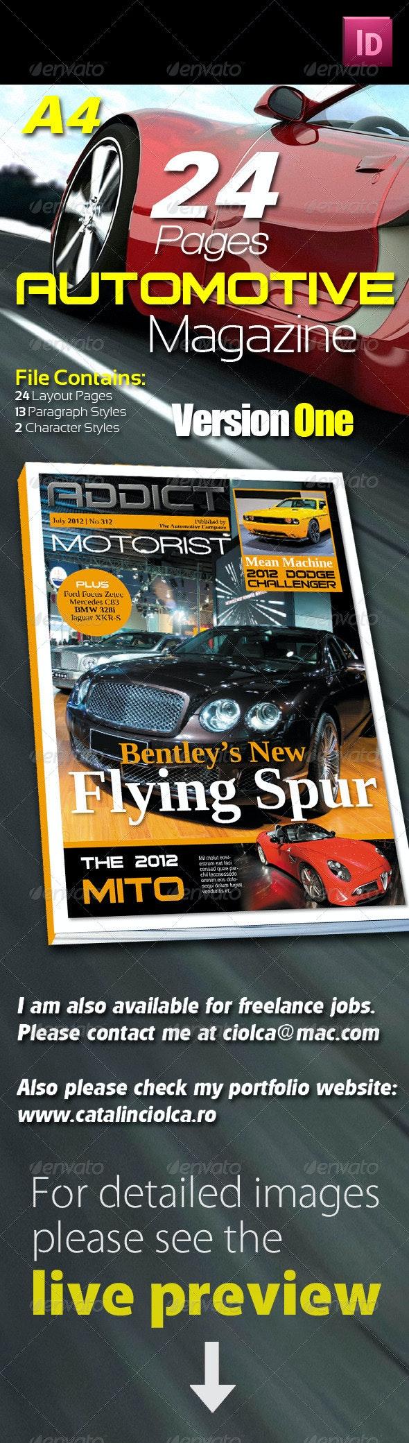 24 Pages Automotive Magazine Version One - Magazines Print Templates