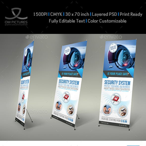 Security System Signage Roll Up Banner Vol.2