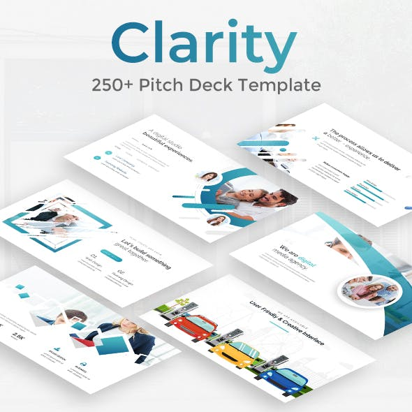 Clarity Pitch Deck Powerpoint Template