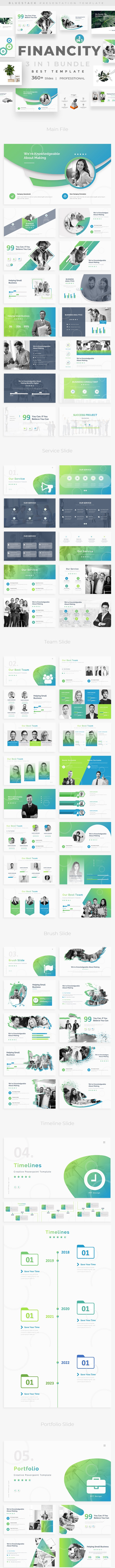 Financity 3 in 1 Bundle Powerpoint Template - Creative PowerPoint Templates