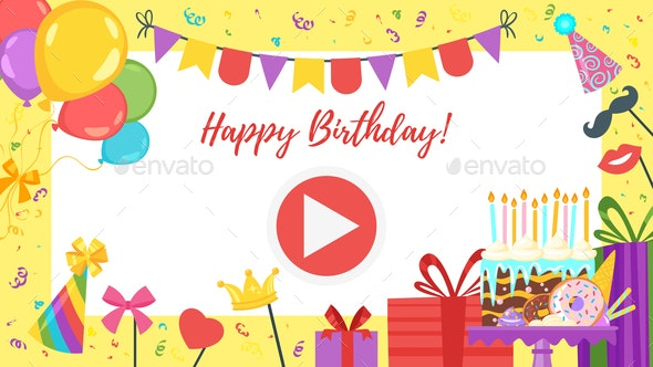 video and photo frame background - Birthdays Seasons/Holidays