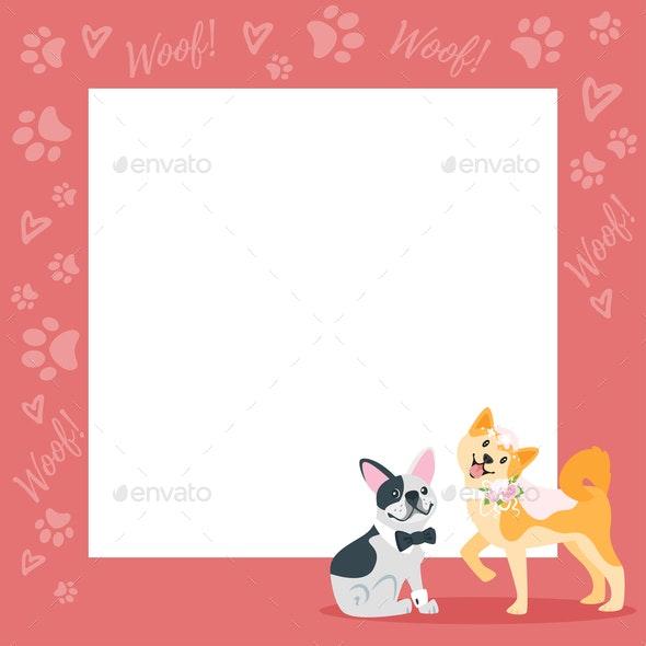 Dog Wedding Background - Animals Characters