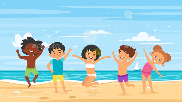Children in Swim Suits - Miscellaneous Seasons/Holidays