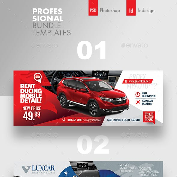Rent A Car Cover Bundle Templates