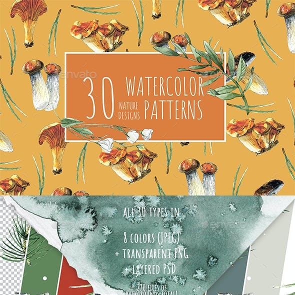 All Seasons Watercolor Patterns