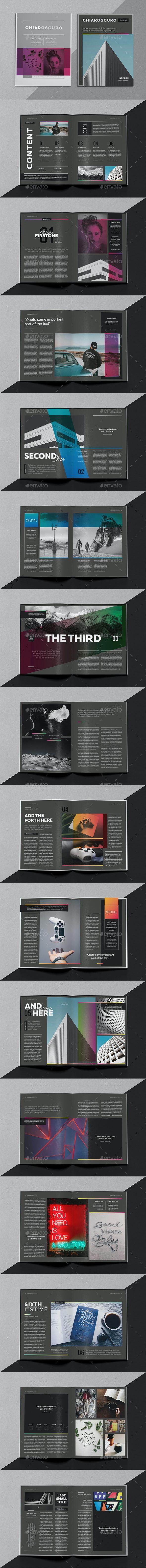 Chiaroscuro Magazine Template - Magazines Print Templates