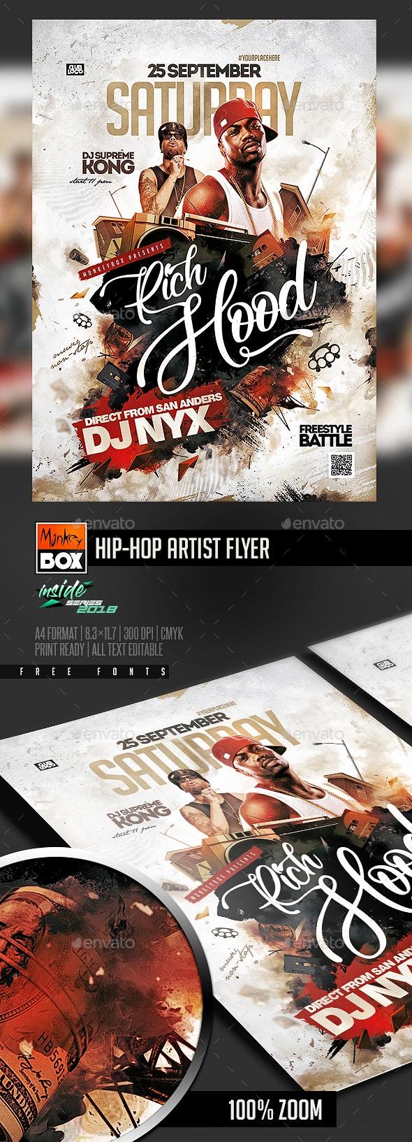 Hip-Hop Artist Flyer - Events Flyers