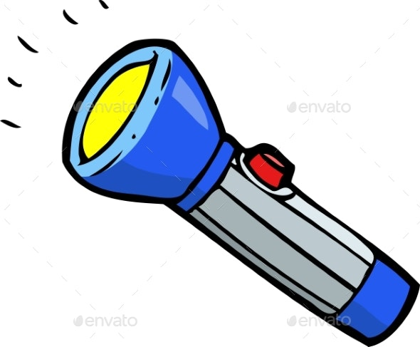 Doodle Blue Flashlight - Man-made Objects Objects