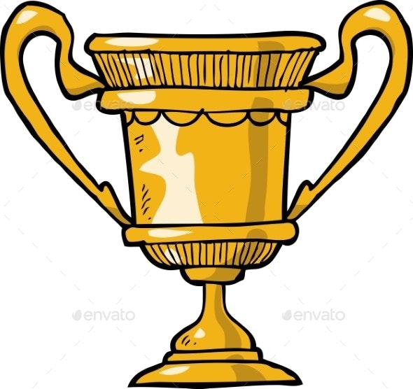 Cartoon Gold Cup - Miscellaneous Vectors