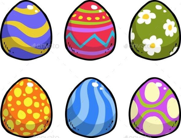 Doodle Easter Eggs - Miscellaneous Vectors