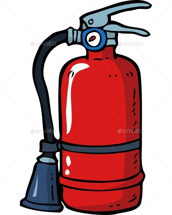 Doodle Fire Extinguisher - Miscellaneous Vectors
