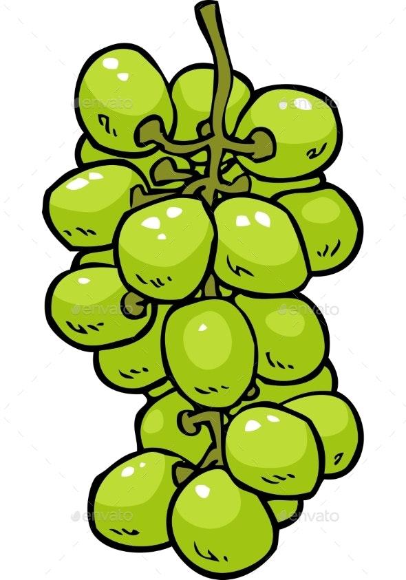 Cartoon Doodle Grapes - Miscellaneous Vectors