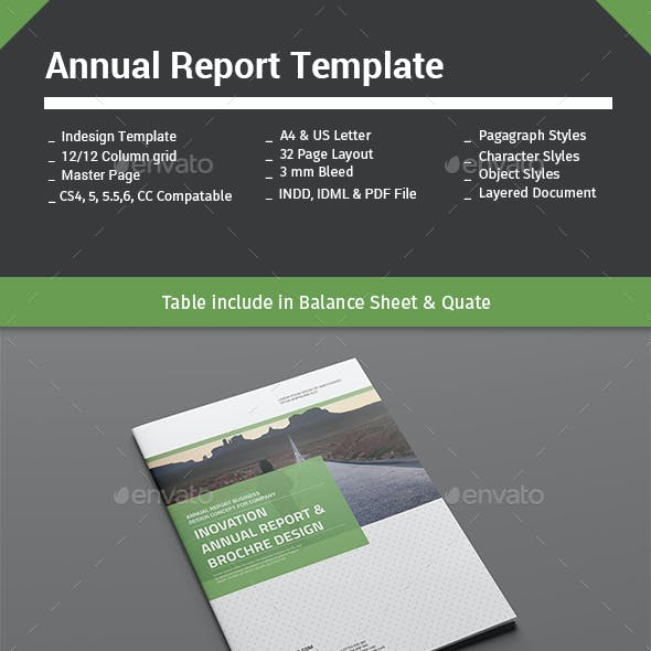 Annual Report Template 32 Pages