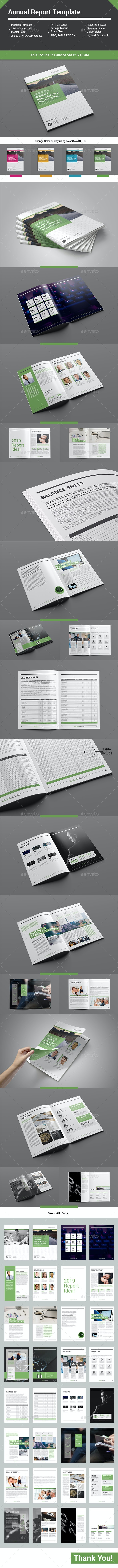 Annual Report Template 32 Pages - Informational Brochures
