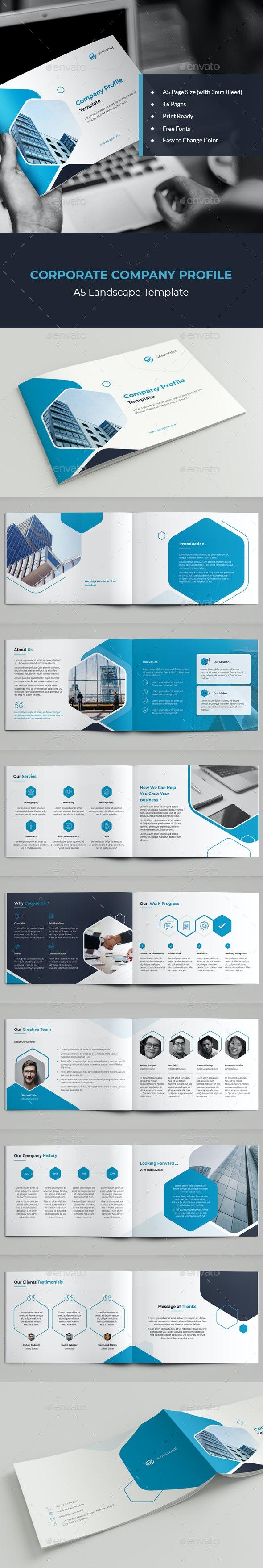 A5 Landscape Corporate Profile - Corporate Brochures